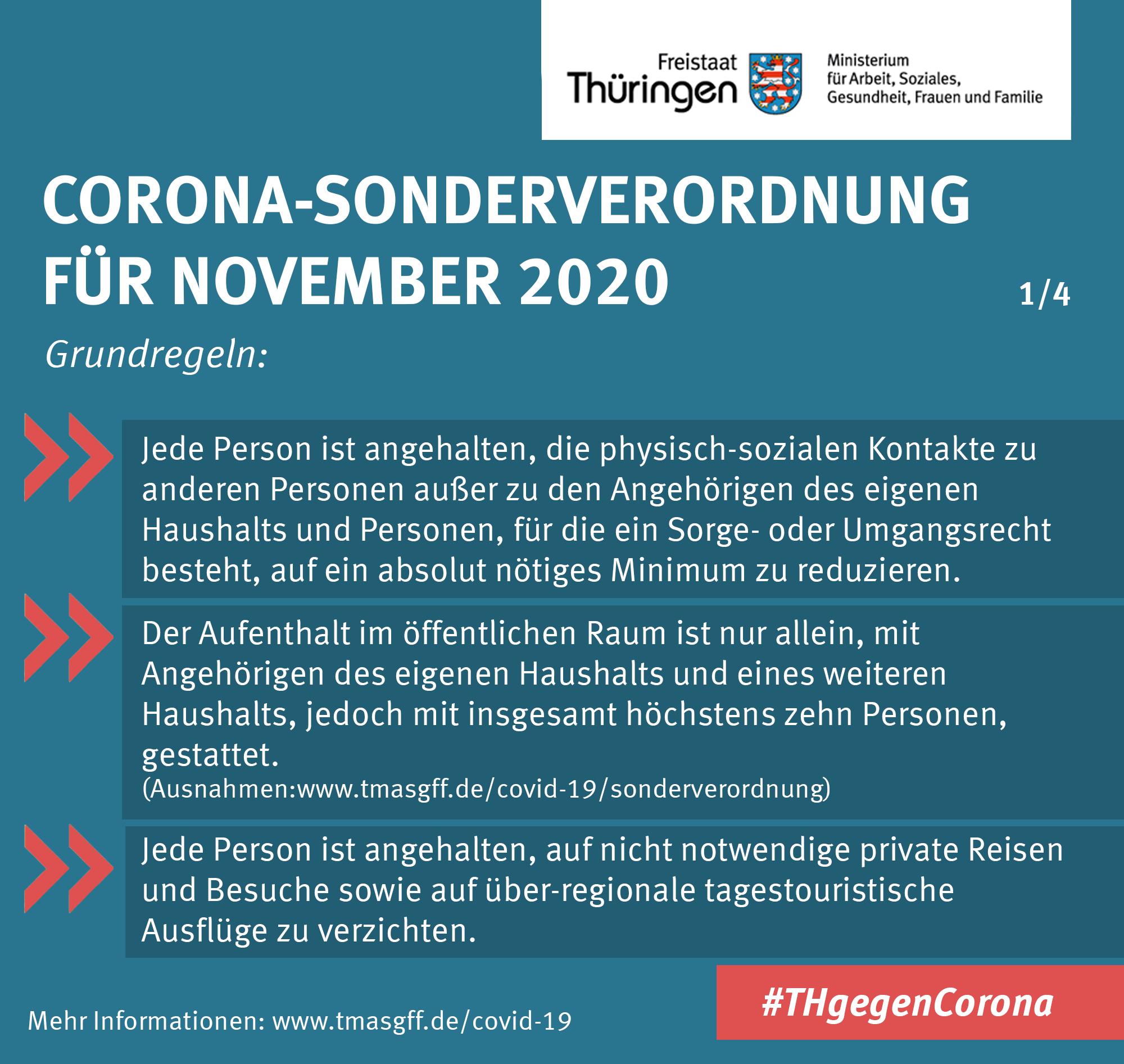 Zusammenfassung Corona-Sonderverordnung November 2020 1/4