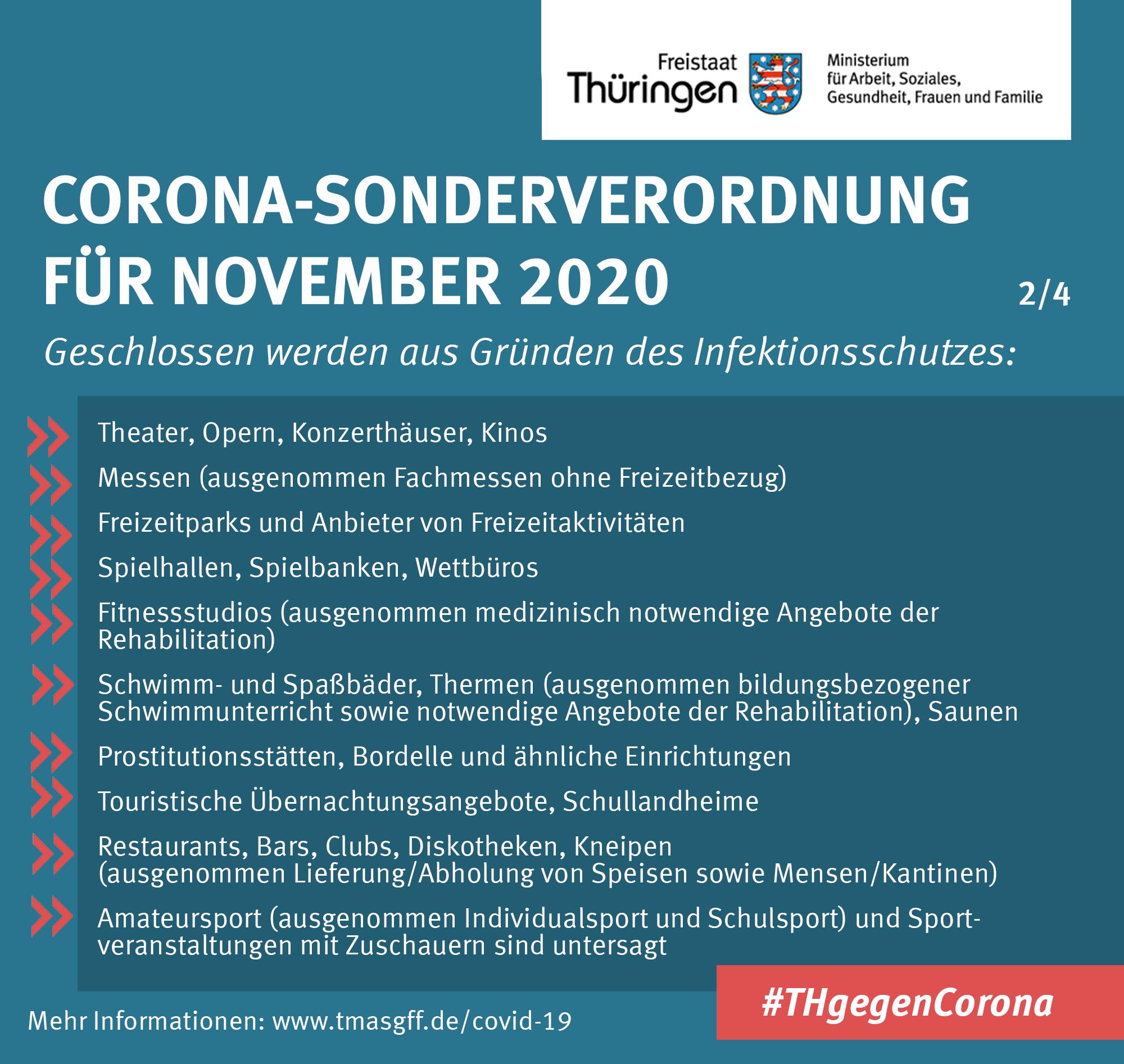 Zusammenfassung Corona-Sonderverordnung November 2020 2/4