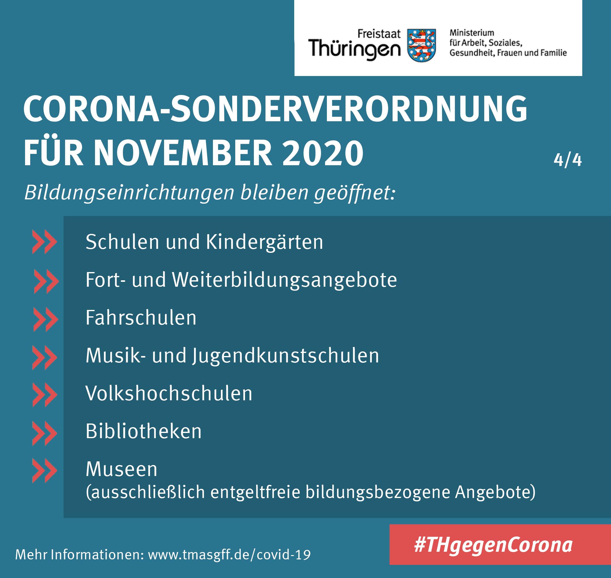 Zusammenfassung Corona-Sonderverordnung November 2020 3/4