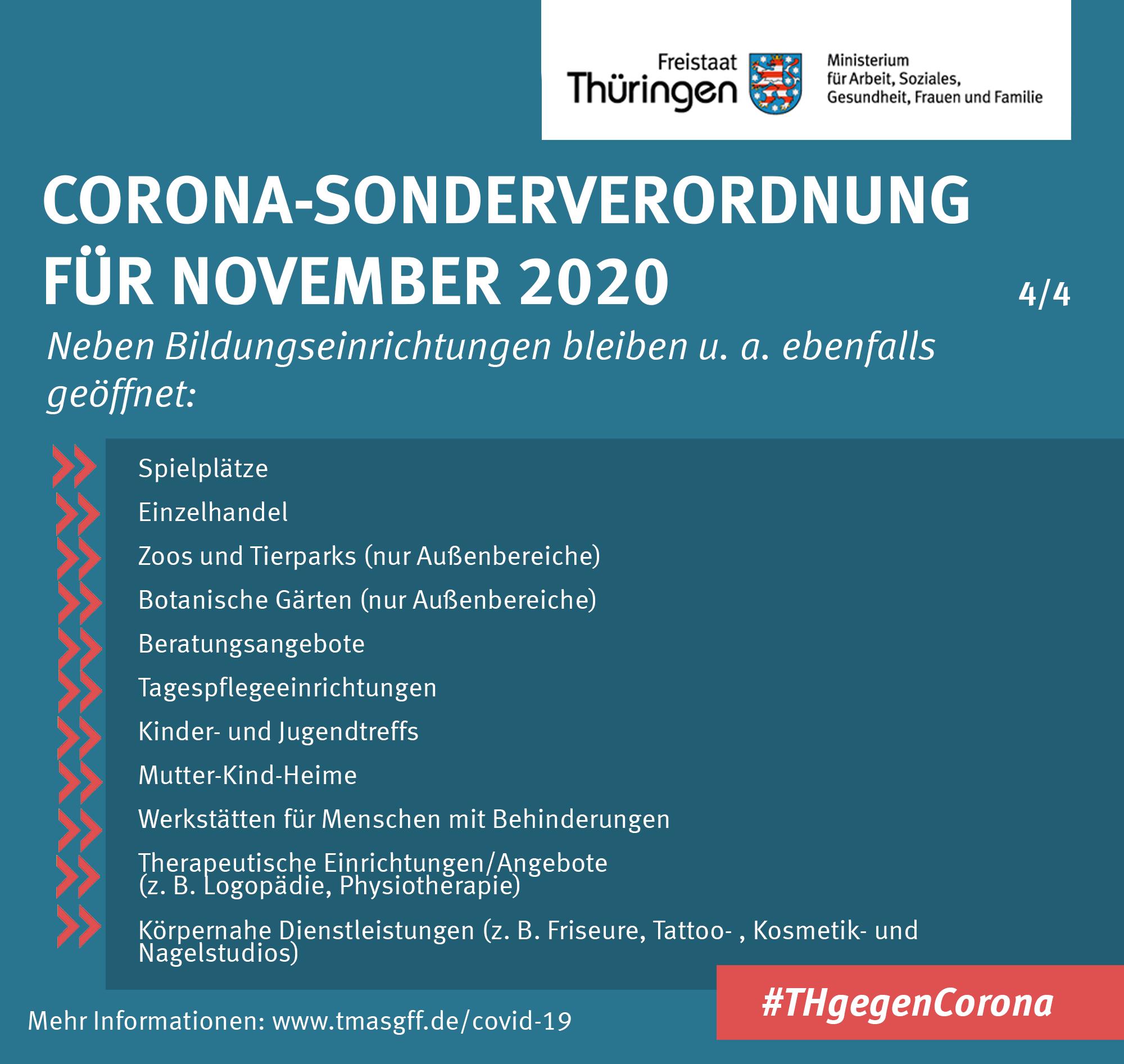 Zusammenfassung Corona-Sonderverordnung November 2020 4/4