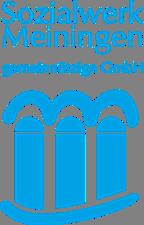 Blaues Logo auf weißem Grund des Sozialwerk Meiningen gGmbH